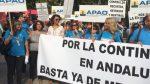 Lola Aquino (PA) participa en la manifestación de los orientadores laborales