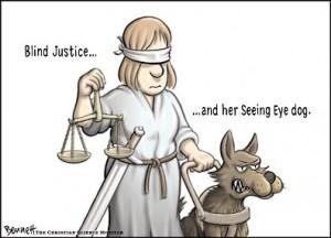 Justicia ciega, pero vigilando la Policía