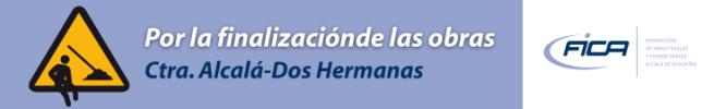 Banner en Guadaíra Información de la campaña de FICA por el desdoble de la Carretera A-392