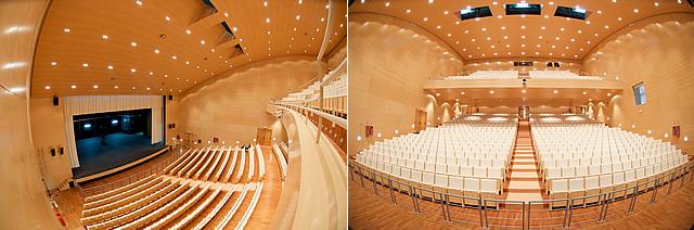 Nuestro Auditorio Riberas del Guadaíra, por dentro, igual de vacío que sus cuentas, aparentemente.