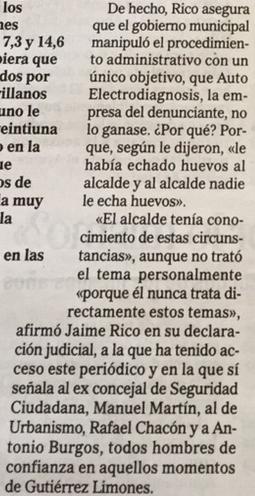Por supuesto, esto lo dice un implicado en un Juzgado. El Juez decidirá si es verdad o no.