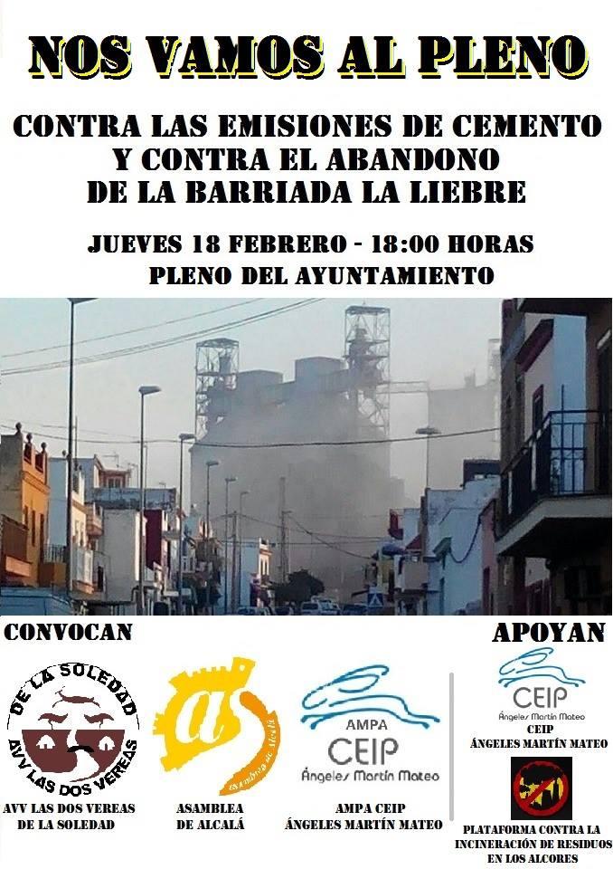 Acude pacíficamente a pedir que sea compatible vivir y trabajar en Alcalá.