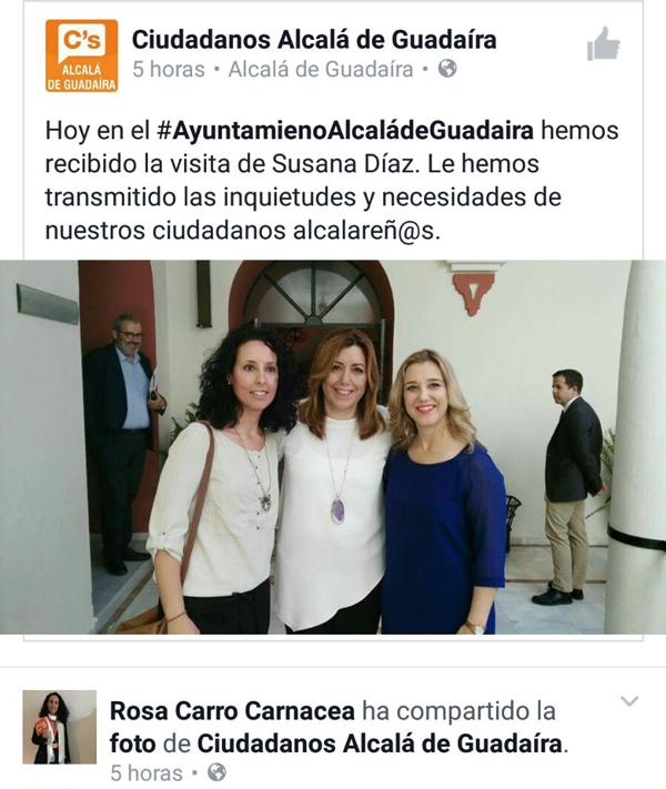 Ciudadanos de Alcalá votó a Limones y continúa manteniendo una excelente relación con el PSOE de Alcalá. ¿Y por qué no? ¿Verdad?