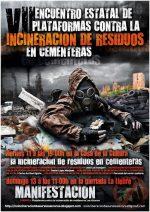 Plataformas contra la incineración de residuos en cementeras de todo el Estado se reúnen en Alcalá para analizar la situación y acordar medidas de lucha coordinadas