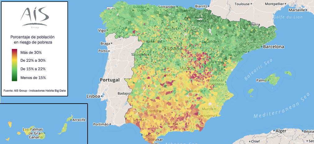 Alcalá de Guadaíra es el 2º Municipio de España con mayor % de población en riesgo de pobreza.